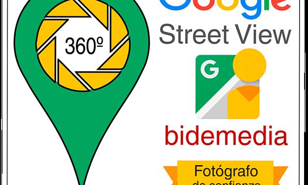 Certificado como fotógrafo de confianza de Google Street View