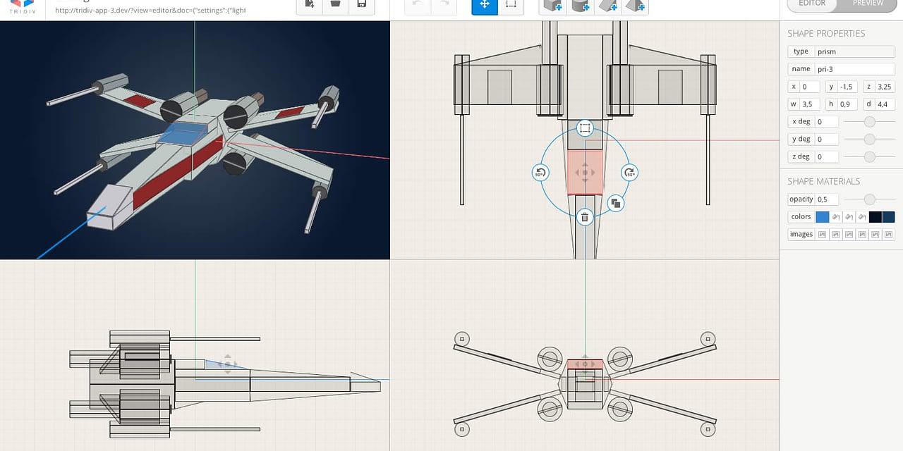 TriDiv: un editor web para crear objetos 3D en CSS